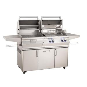 Aurora - Gas/Charcoal Combo Grills on Cart