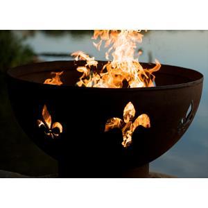 """36"""" Fleur De Lis Fire Pit"""