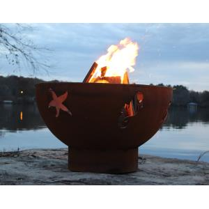 "36"" Sea Creatures Fire Pit"