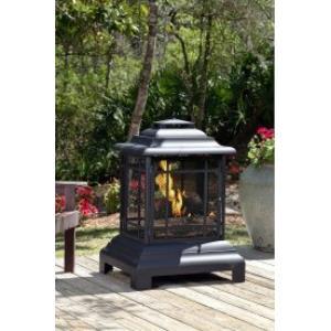 "40"" Rectangle Pagoda Patio Fireplace Ash Receiver"