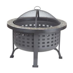 "Alpina - 30"" Round Slate Top Fire Pit"