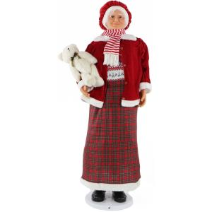 58 Inch Dancing Mrs. Claus with Teddy Bear