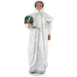 58 Inch Dancing Mrs. Claus in Hooded Cloak with Mini Christmas Tree and Gift