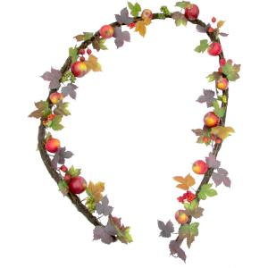 9ft Fall Harvest Garland Decor with Apples and Berries