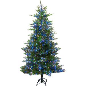 Aurora - 90 Inch Christmas Tree with Multi-Color Cluster Rice LED Lights