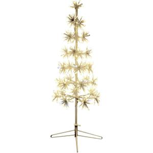 36 Inch Metal Framed Decorative Christmas Tree with Metal Base with Twinkle Lights