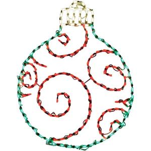 38 Inch Round Ornament Christmas Indoor/Outdoor LED Lights
