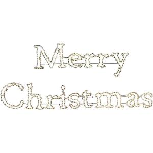 "96"" Christmas Giant Outdoor LED Lights with 20' Merry Christmas Sign"