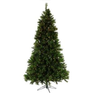 90 Inch Canyon Pine Christmas Tree with Clear LED Lighting