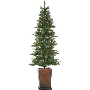 Colorado Fir - 6' Artificial Holiday Potted Tree with Smart LED Lighting
