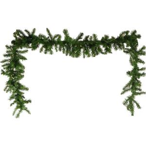 Colorado Fir - 9' Artificial Holiday Garland with Battery-Operated Warm LED String Lights