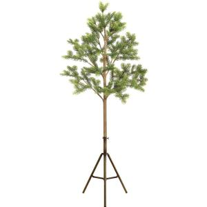 84 Inch Classic Spruce Christmas Tree Decor with Modern Tri-Pod Stand