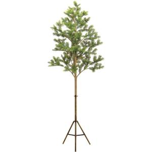 96 Inch Classic Spruce Christmas Tree Decor with Modern Tri-Pod Stand