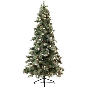 Dunhill - 90 Inch Pine Glitter Christmas Tree with Clear and G40 Lights