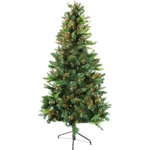 Festive - 84 Inch Camo Christmas Tree with Clear LED Lighting