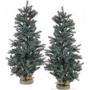 Heritage Pine - 4' Artificial Trees with Burlap Base (Set of 2)