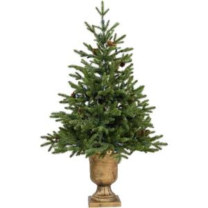 Noble Fir - 3' Artificial Tree with Metallic Urn Base