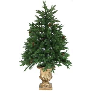 Noble Fir - 4' Artificial Tree with Metallic Urn Base