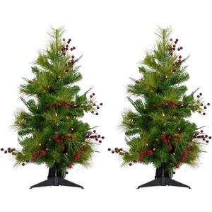 Newberry Pine - 2' Artificial Tree (Set of 2)