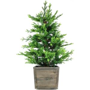 Royal Pine - 4' Artificial Potted Tree with Battery-Operated LED Lights