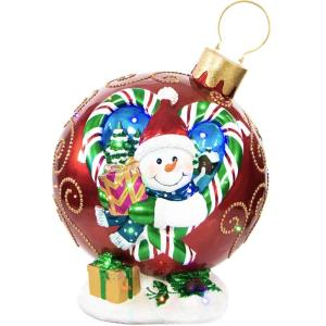 28.5 Inch Musical Snowman Ornament with Long-Lasting LED Lights