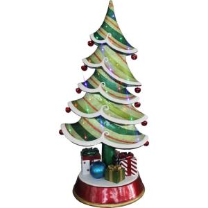 60 Inch Resin Christmas Tree with LED Lights