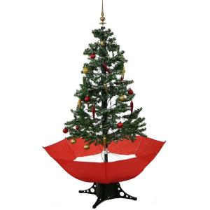 Let It Snow Series - 67 Inch Musical Christmas Tree with Umbrella Base and Snow Function