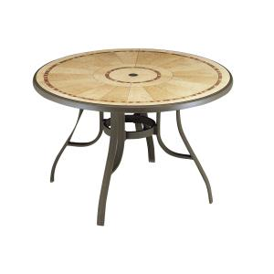 Louisiana 48 in Round Table with Metal Legs