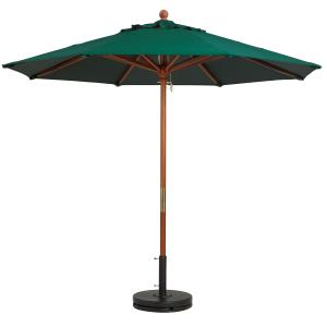 9 ft Round Wooden Market Umbrella w 1.5 in Pole