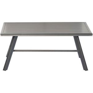 "41.8"" All-Weather Commercial-Grade Aluminum Slat-Top Coffee Table"