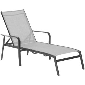 "Foxhill - 69.2"" All-Weather Commercial-Grade Aluminum Chaise Lounge Chair with Sunbrella Sling Fabric"