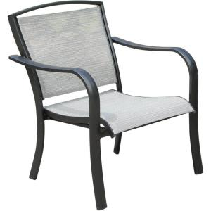 "Foxhill - 33.5"" All-Weather Commercial-Grade Aluminum Lounge Chair with Sunbrella Sling Fabric"