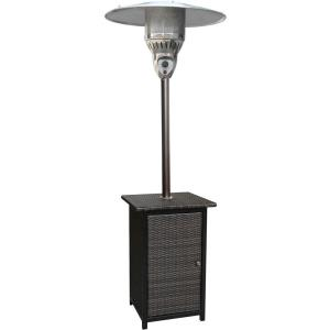 "84"" Liquid Propane Square Wicker Patio Heater"