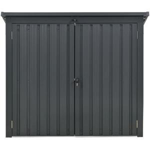 3.3'x5.2'x4.4' Trash and Recyclables Storage Shed with 2-Point Locking System