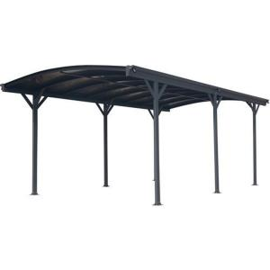 19.3'x10' Arch-Roof Carport with Polycarbonate Roof Panels