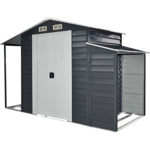 5'x10' Multi-Use Shed with Separate Firewood Storage and Open Extension