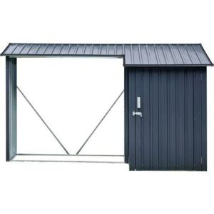 5.2'x8.8'x5.3' Multi Wood Storage with Lockable Hinge Door