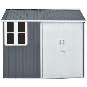 Nordic - 6'x8' Storage Shed with Double Hinged Doors, Window, and Base
