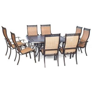 """Manor - 60"""" 9-Piece Dining Set Square Table"""