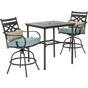 Montclair - 33 Inch 3 Piece Dining Set with 2 Swivel Chairs