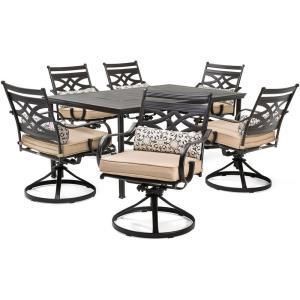 Montclair - 66 Inch 7 Piece Dining Set with 6 Swivel Rockers
