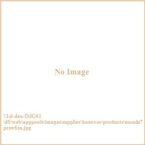 "Monaco - 68"" 7 Piece Dining Set with 6 Sling Swivel Rockers with Umbrella Base"