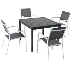 "Naples - 38"" 5 Piece Dining Set with 4 Sling Back Chairs"