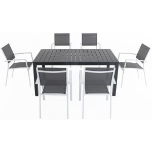 Naples - 63 Inch 7 Piece Dining Set with 6 Sling Chairs