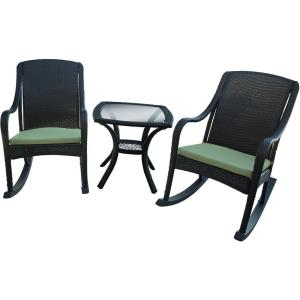 """Orleans - 36.1"""" 5-Piece Rocker Chair Set with Cushion"""