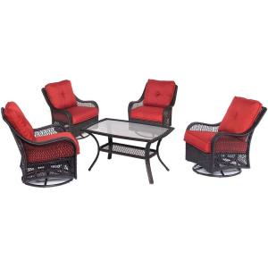 Orleans - 5 Piece Swivel Set with 4 Swivel Gliders
