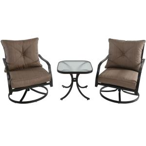 Palm Bay - 3 Piece Swivel Chat Set with 2 Swivel Chairs