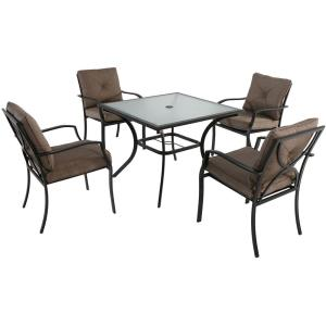 """Palm Bay - 37.7"""" 5 Piece Dining Set with 4 Dining Chairs"""