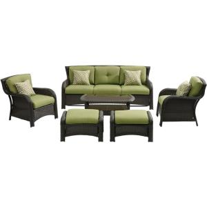 Strathmere - 6 Piece Wicker Patio Conversation Set