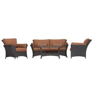 "Strathmere Allure - 67.50"" 4-Piece Seating Set with 2 Lumbar Pillows"